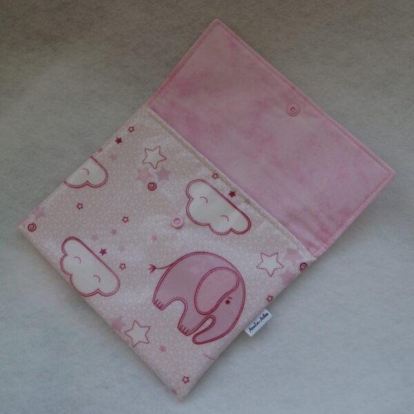 Porta documentos envelope rosa interior